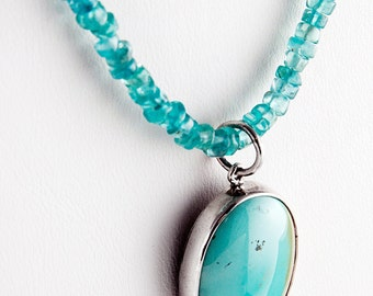 Chicken or Egg Turquoise Necklace