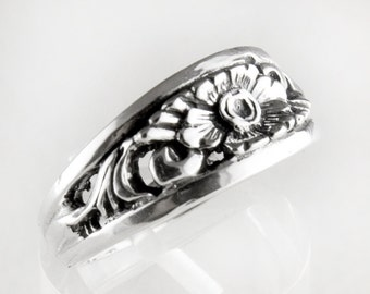 Bouquet Band Sterling Silver Ring