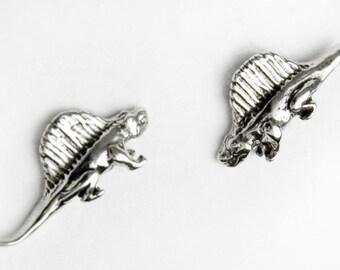 Spinosaurus Sterling Silver Post Earrings