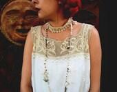 Crochet Bridal Necklace, Bridal Jewelry, Elegant, Delicate Crochet Necklace/Bracelet Wrap