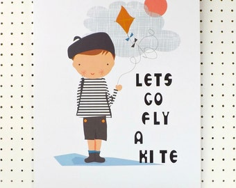 Fly a Kite Boys Print A3 Black Blue