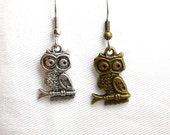 From USA Choose Owl Earrings Variation No1 - Surgical Steel French Hooks