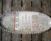 New Orleans Archetecture Inspired Oval Platter