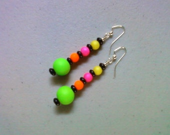 Neon Rainbow Earrings (0873)