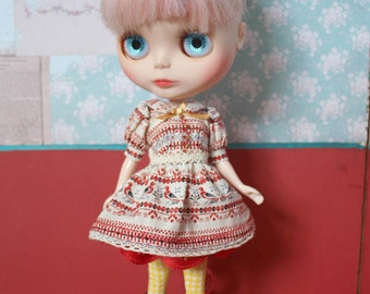 Blythe Vintage Folk Dress Set