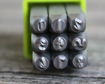Jenna Sue Number Set- Metal Stamp Set-3mm Numbers Only-Metal Supply Chick-Steel Stamps for Metal
