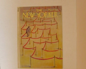 Vintage New Yorker Cover January 20 1975 by Eugene Mihaesco