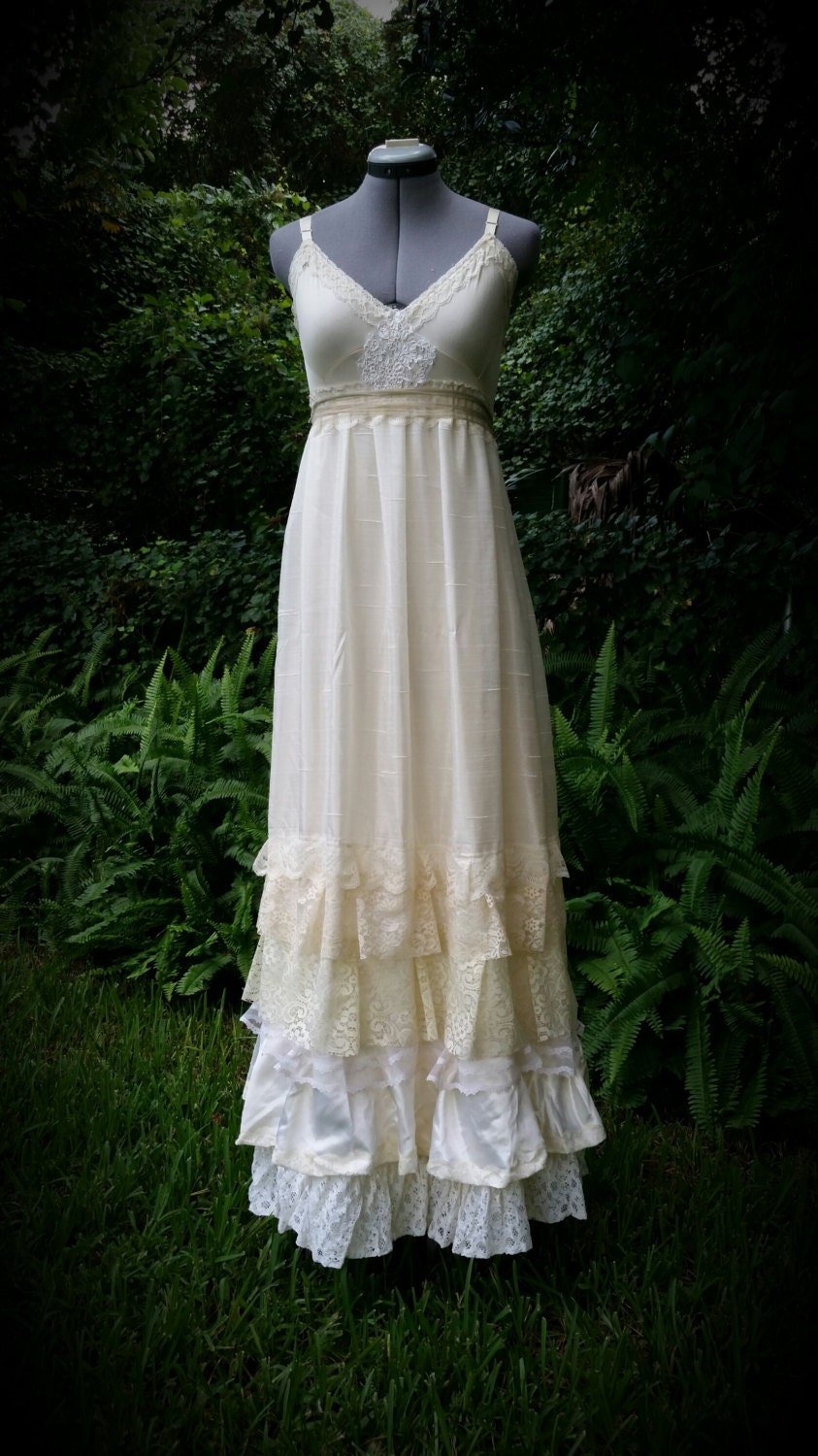 custom boho wedding dress bohemian slip dress long floor