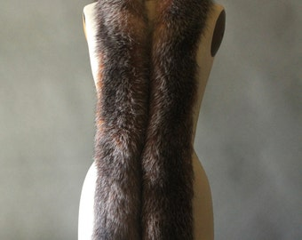 Vintage 80's Red Fox Fur Boa Fling