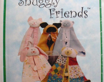 Snuggly Friends Animal Security Blanket Pattern - Sew Baby 855 - Kid's Pattern