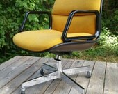 RESERVED SHIPPING Yellow Steelcase Office Chair