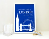 Tired of London Print England Britain Travel Quote Wall Art Archival Matte Poster