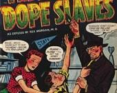 TEENAGE DOPE SLAVES Print Vintage Anti Drug Propaganda Comic Book Pulp Art Mature