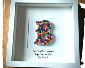 Lets build a home together brick by brick - A Unique Hand Made Gift