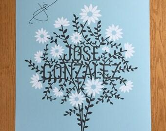 Autographed Jose Gonzalez gig poster