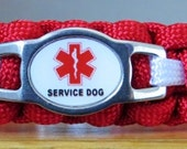 Service Dog Collar, Paracord Collar, Small Dog Collar