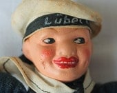 Vintage Norah Wellings Victoria Toy Works Composition Sailor Jolly Boy Doll Vintage Nora Wellings Sailor Doll