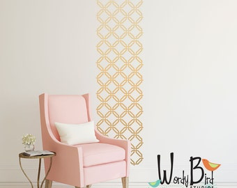 Woven Trellis Pattern - Vinyl Wall Decal  - wall stickers set