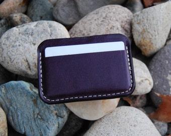 Business/Credit Card Case Purple Leather
