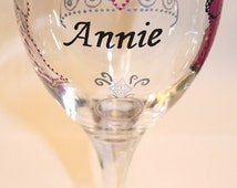 Bachelorette Wine Glass, Bride to Be, Future Mrs., Tiara, Lingerie, Personalized, Painted, Pink, Magenta, Black