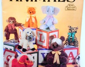 Sew Soft and Cuddly Animals Pattern Booklet, Full size Patterns, Stuffed Toy Patterns, Sewing Supplies