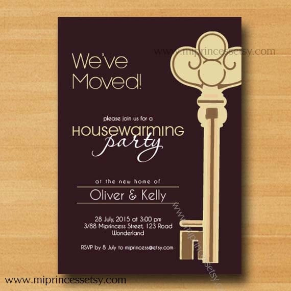 Kitchen party invitation cards design home decor laux housewarming invitation key party invites new house by miprincess stopboris Choice Image