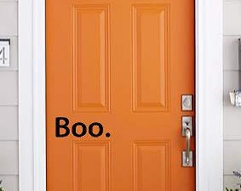 Boo Halloween decor decal  holiday front Door Vinyl porch decals   Lettering wall words quotes Home decor itswritteninvinyl
