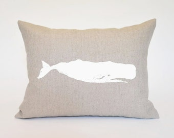 Hemp Whale Pillow