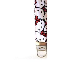 Cute Hello Kitty Key-chain/ Key Fob - Assorted fabrics available