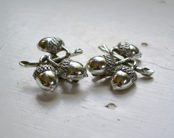 1960s Silver Acorn Clip Earrings