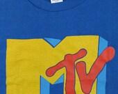 Vintage 80s MTV T SHIRT mint unused