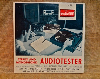 Interesting...Audiotester - Stereo and Monophonic Test Record - 1960s Vintage Vinyl Record Album