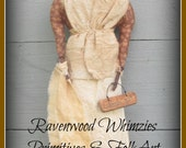 Primitive Doll, primitive heritage doll, prim washer woman