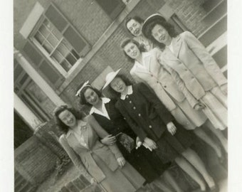 "Vintage Photo ""Should've Had a V8"" Snapshot Photo Old Antique Photo Black & White Photography Found Photo Paper Ephemera Collectible - 123"
