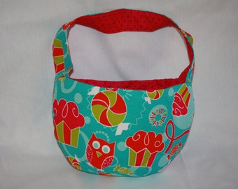 Little Girls Cupcake Owl Candy Purse Bowl Shape Handbag Shoulder