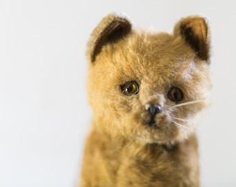 Here Kitty Kitty Vintage Stuffed Animal Cat England