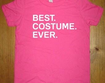Kids Halloween Shirt - Best. Costume. Ever. Cute Halloween Costume Idea Boys or Girls Shirt School Party Gift Friendly - Easy Simple Costume