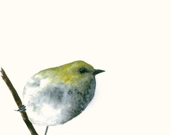Art Print from Original Watercolor Artwork Little Yellow Bird