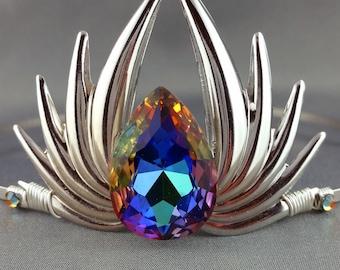 Volcano Venus - Simple Silver Tiara Rainbow Crown Rainbow Tiara Costume Crown Rainbow Fairy Crown Fairy Tiara
