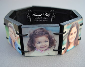 Custom Wooden Photo Bracelet