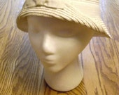 White Gold Hat Cloche Ladies Millinery