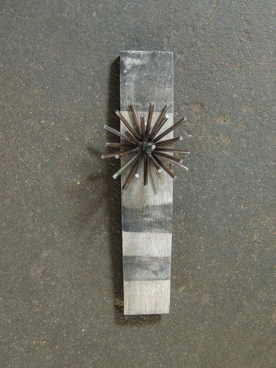 Recycled metal wall hanging bar art barrel stave wall for Recycled wall