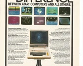 1981 Advertisement Atari Computer Graphics Screens Games Video For People Room Arcade Play Television Wall Art Decor