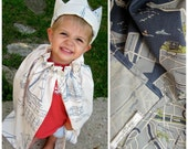 Boy's Cape & Crown // Kids' Dress-up King Set // Limited Edition // Cartographing Christopher