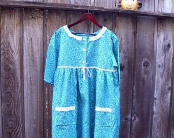 Rustic Summer Cotton Dress/ Mori Girls Plus Size Free US Shipping