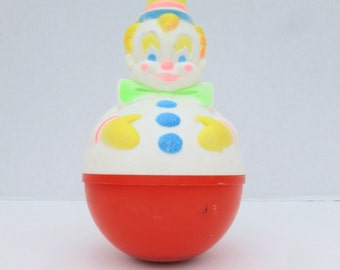 Sanitoy Roly Poly Clown Baby Toy with Chime 1977