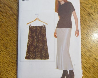 DESIGNER Bias Cut A-Line Flared Skirt in Two Lengths - Mini or Maxi Length - All Sizes Included - UNCUT Sewing Pattern Vogue Elements 9541