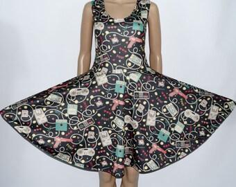 Gamer Skater Dress (full pattern) - Made to Order