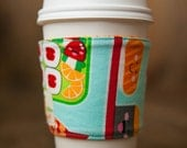Reversible Coffee/Tea Cozy Sleeve, Thermally Insulated - Sushi Festival