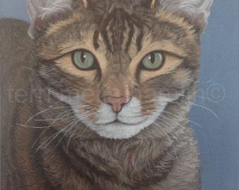 Custom Cat Portrait, Pet Portrait 11x14 Painting, Custom Cat Painting, Pet Painting of Your Cat